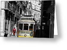 Lisbon Trolley 16c Greeting Card