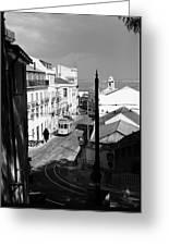 Lisbon Trolley 17b Greeting Card