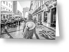 Lisbon Woman Lifestyle Greeting Card