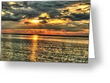 L.i.sound Sunset Greeting Card
