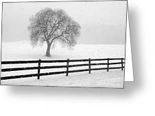 Listen The Snow Is Falling All Around Greeting Card