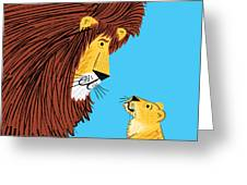 Listen To The Lion Greeting Card