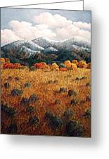 Listening To Mountains Greeting Card