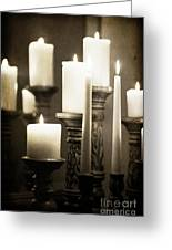 Lit Church Candles Greeting Card