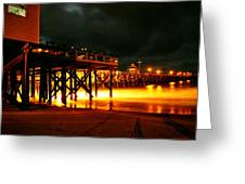Lit Pier Greeting Card
