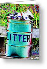 Litter Greeting Card