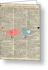 Little Birds Love Greeting Card