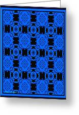 Little Blue Angels Abstract Greeting Card