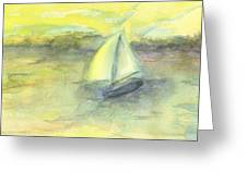 Little Boat Greeting Card