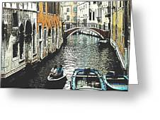 Little Boat In Venice Greeting Card