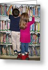 Little Bookworms Greeting Card