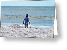 Little Boy Big Dreams Greeting Card