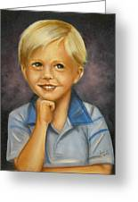 Little Boy Blue Greeting Card