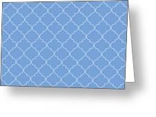 Little Boy Blue Quatrefoil Greeting Card
