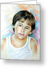 Little Boy From Tahiti Greeting Card