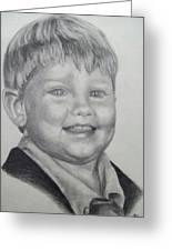 Little Boy Portrait Greeting Card