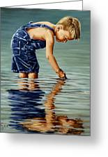 Little Boy Reflection Greeting Card