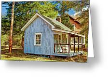 Little Cabin In The Country Pine Barrens Of New Jersey Greeting Card