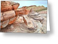 Little Castle Above Wash 3 In Valley Of Fire Greeting Card