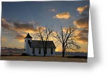 Little Church On The Prairie Greeting Card