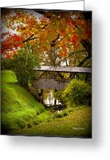 Little Covered Bridge Greeting Card by Trina Prenzi