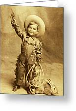 Little Cowboy  Greeting Card