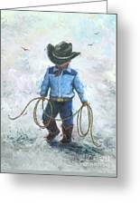 Little Cowboy Lasso Greeting Card