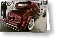 Little Deuce Coupe Aft View Greeting Card