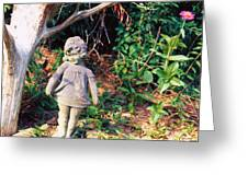 Little Flowergirl Greeting Card