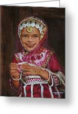 Little Girl In India Greeting Card