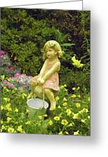 Little Girl With Pail Greeting Card