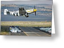 P51 Mustang Little Horse Gear Coming Up Friday At Reno Air Races 5x7 Aspect Greeting Card