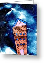 Little House In The Cosmos Greeting Card