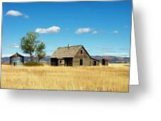 Little House On A Prairie  Greeting Card