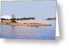 Little Island Ae Painting 2 Greeting Card