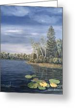 Little Lake In The Woods  Greeting Card