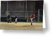 Little League Baseball Greeting Card