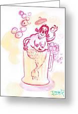 little Mermaid in the Beer - La Sirenetta alla Spina Greeting Card