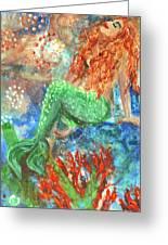 Little Mermaid Greeting Card by Jennifer Kelly