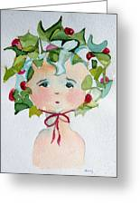 Little Miss Innocent Ivy Greeting Card
