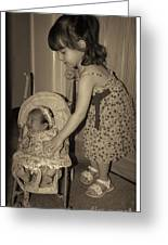 Little Mommy Greeting Card