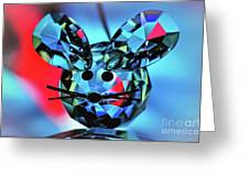 Little Mouse - Lead Crystal Greeting Card