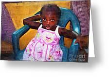 Little Orphan Girl Greeting Card