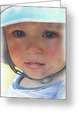 Little Pilgrim Myles Alden At 1yo Greeting Card