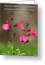 Little Pink Wildflowers With Scripture Greeting Card