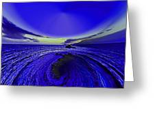 Little Planet Blue Greeting Card