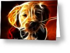 Little Puppy In Love Greeting Card