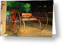 Little Red Buggy Greeting Card