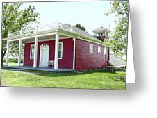 Little Red Schoolhouse, Council Grove Greeting Card