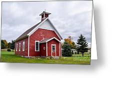 Little Red Schoolhouse Greeting Card